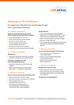 Roadmap IP Umstellung